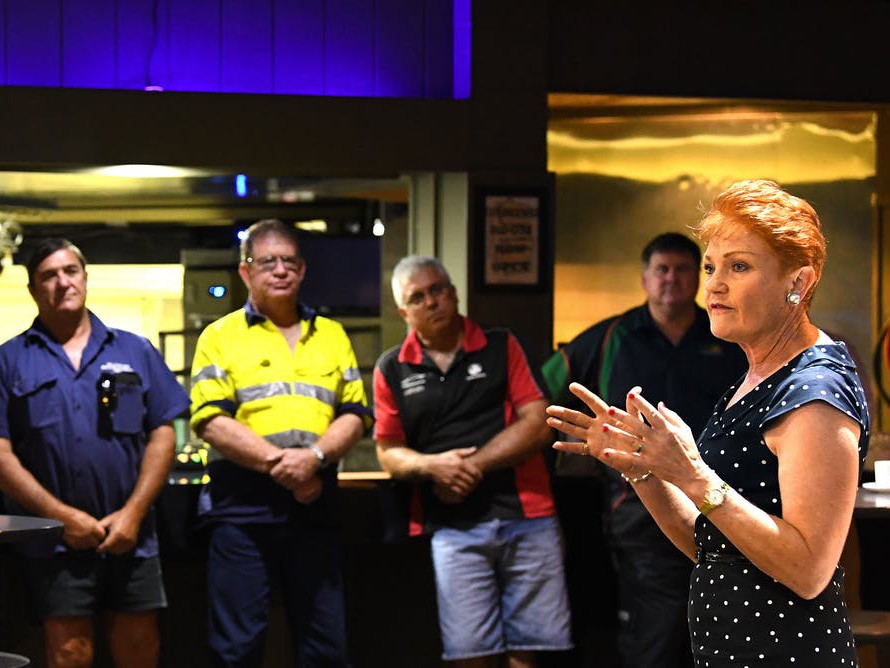 Pauline Hanson's One Nation will contest ten of 12 northern electorates. Photography by Dave Hunt