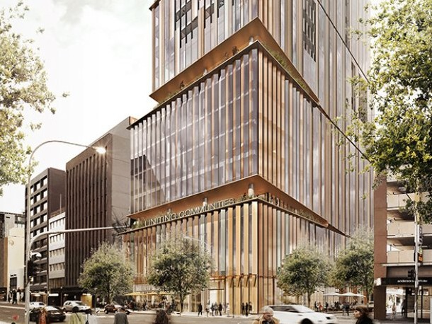 The design for U City, completed by Woods Bagot, has achieved a 6-Star green rating, Image: Uniting Communities