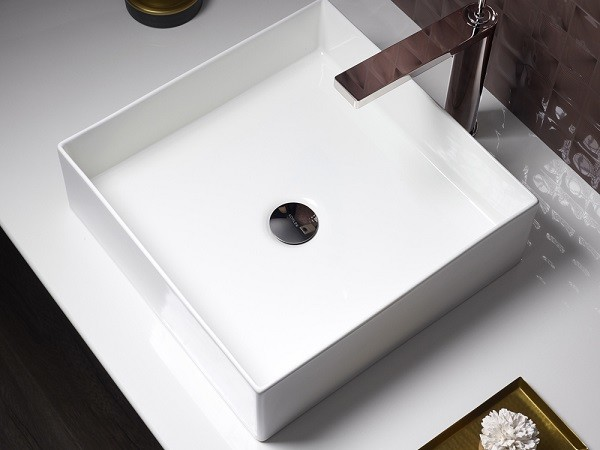 Mica 393mm square basin