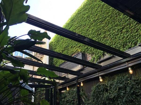 Solaglide Glass Retractable Roof Adds Acoustic Benefits To