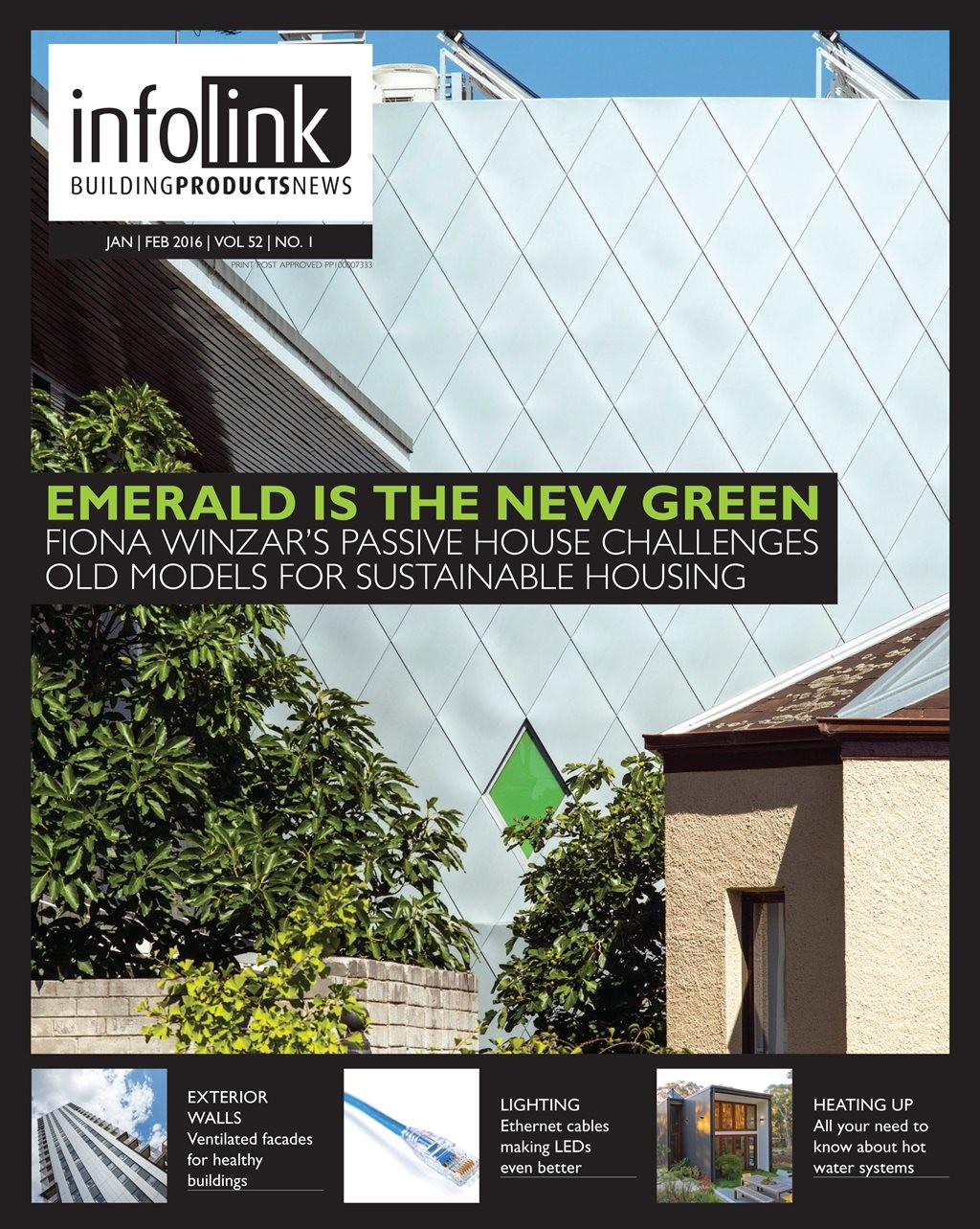 On the cover: Emerald House by Fiona Winzar Architects is the latest from the Victorian firm who are fast making a name for themselves in the sustainable residential building space. Photography by Richard Glover