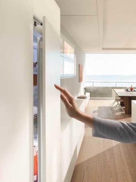 Blum S New Servo Drive Flex For Integrated Appliances Easing Door Opening Architecture Design