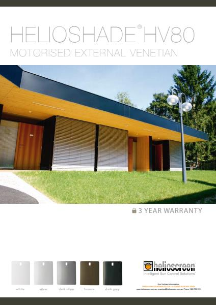 Motorised External Venetians from Helioscreen