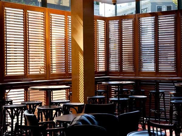Open Shutters' collection of window shutters and louvres can be customised to individual needs