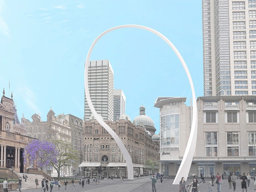 Junya Ishigami's proposed design for the Cloud Arch.  Image: AAP Image