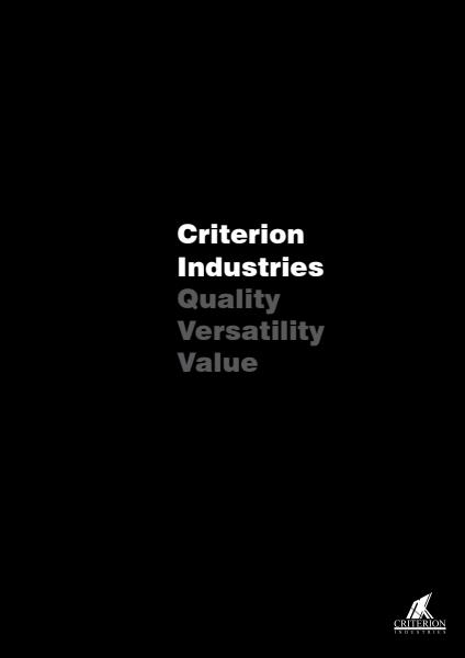 Criterion Company Profile
