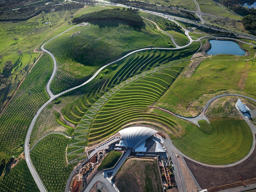 National Arboretum Canberra by Taylor Cullity Lethlean Landscape Architecture. Photography by John Gollings