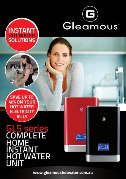 GL5 series COMPLETE HOME INSTANT HOT WATER UNIT