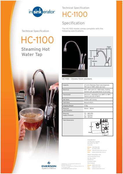 HC1100 Information Specifications