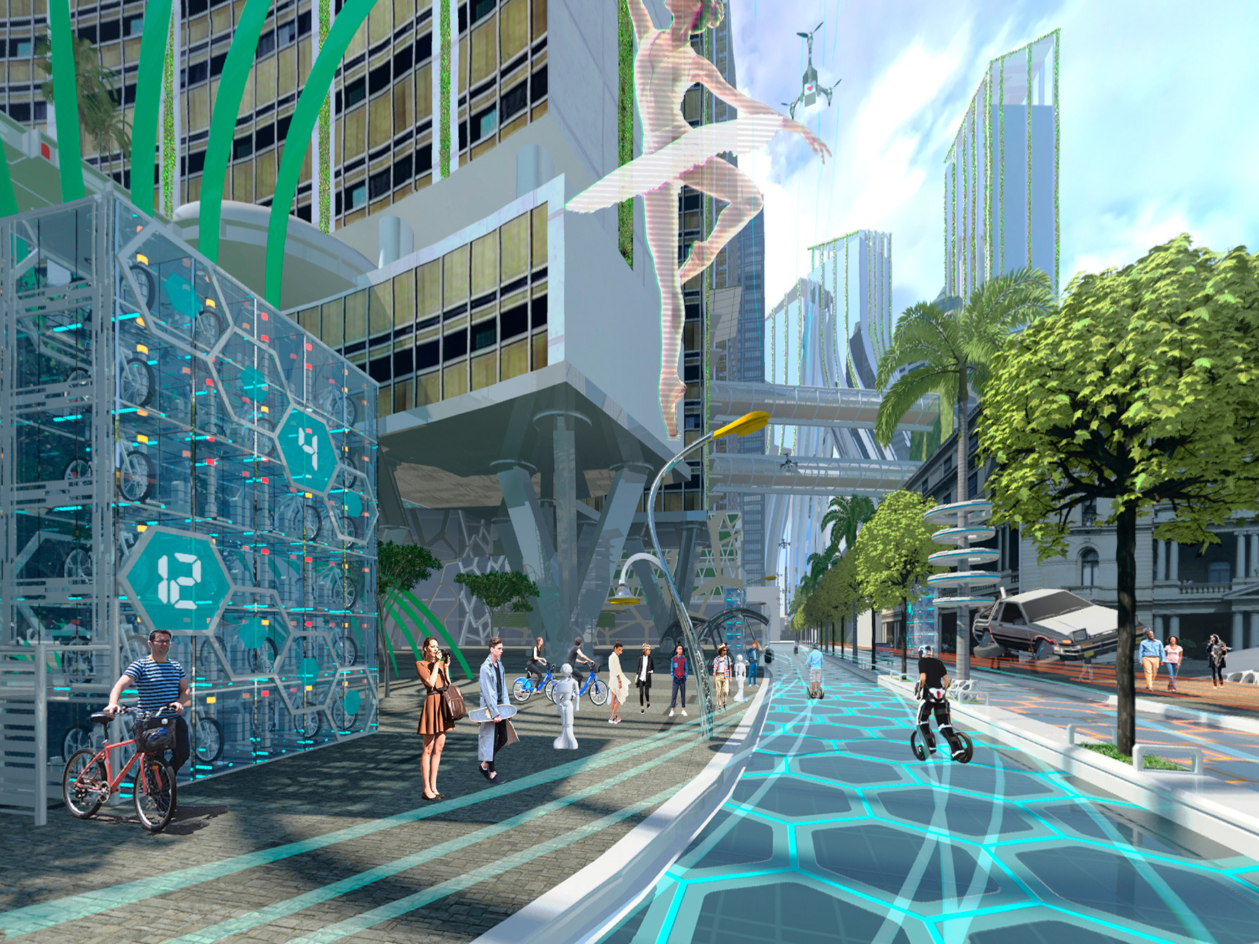landscape street architecture future futuristic vr hub architects young place designers planners height