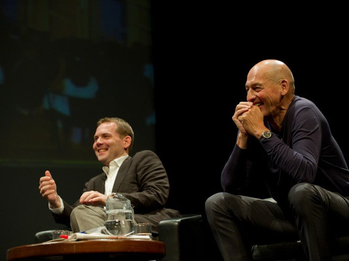 David Gianotten and Rem Koolhaas of OMA. Photography by Jane Hobson, courtesy Barbican Art Gallery