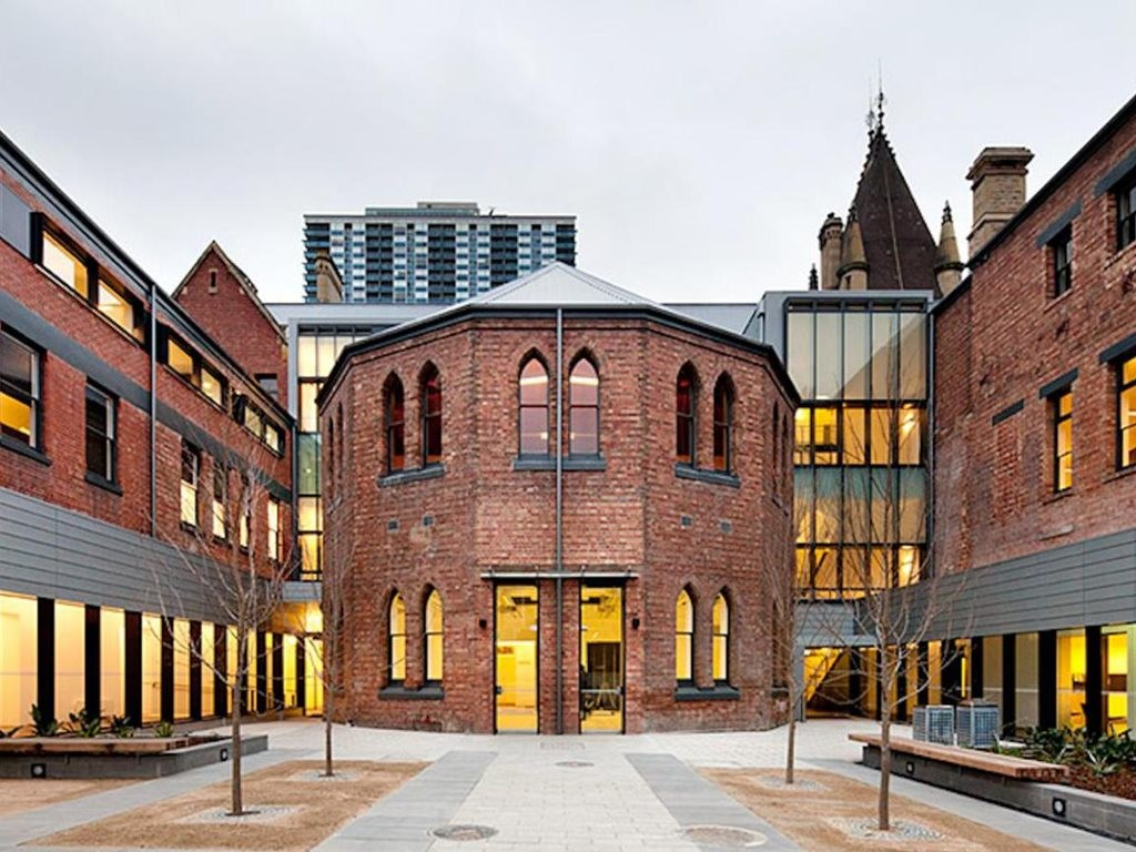Buildings on the RMIT campus show how to sucessfully implement adaptive re-use of heritage structures. Image: RMIT