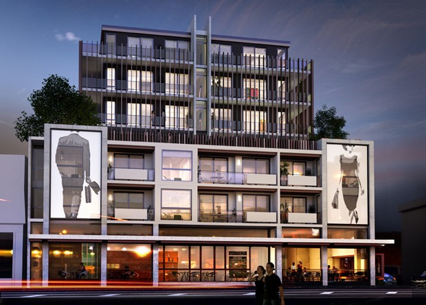 Artworks to adorn apartment facade architecture and design