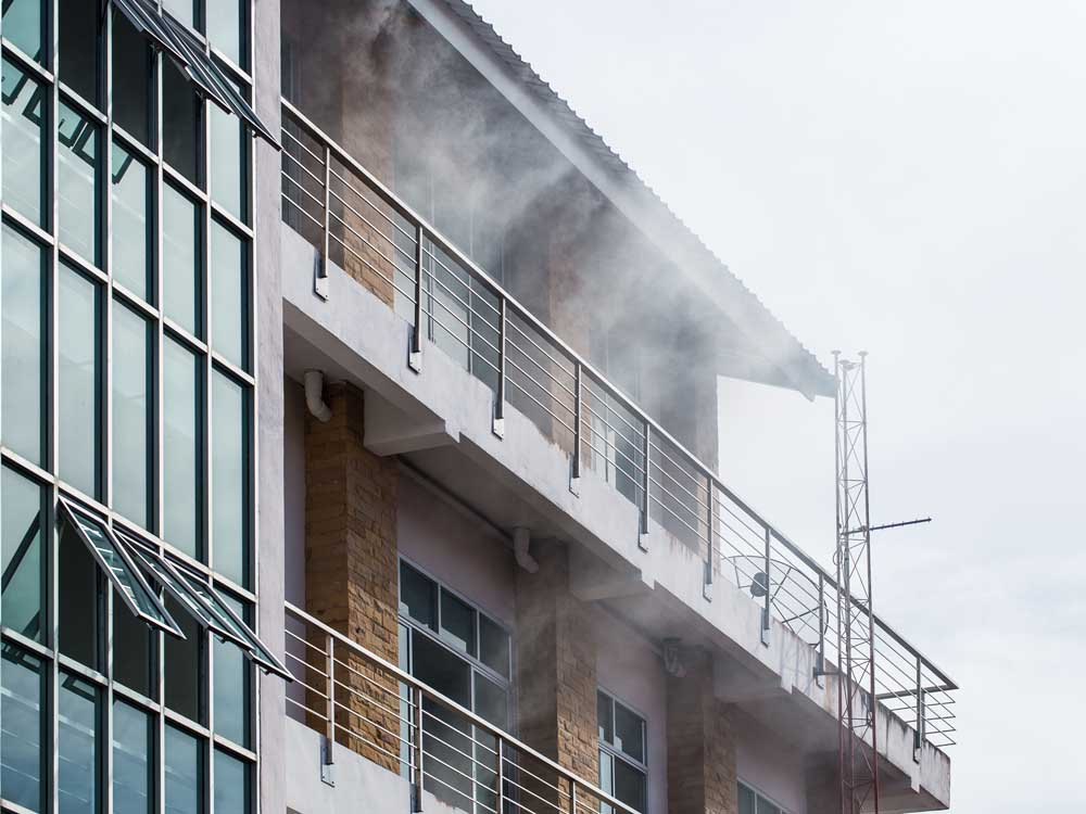 Fire-resistant materials can reduce the impact of fire on the structure