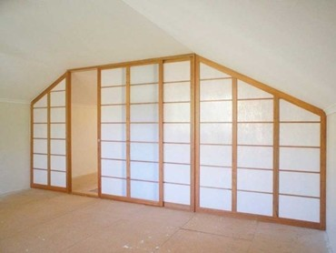 Shoji Screens Customises Attic Room Divider For Pitched