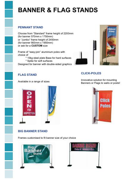 Pennant & Flag Stands and Click Poles