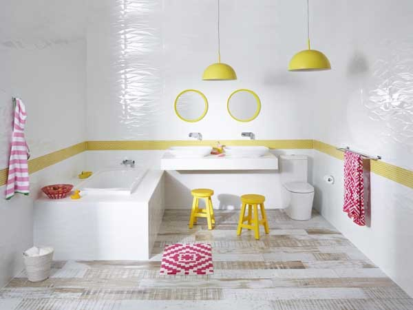The children's bathroom featuring Raymor products