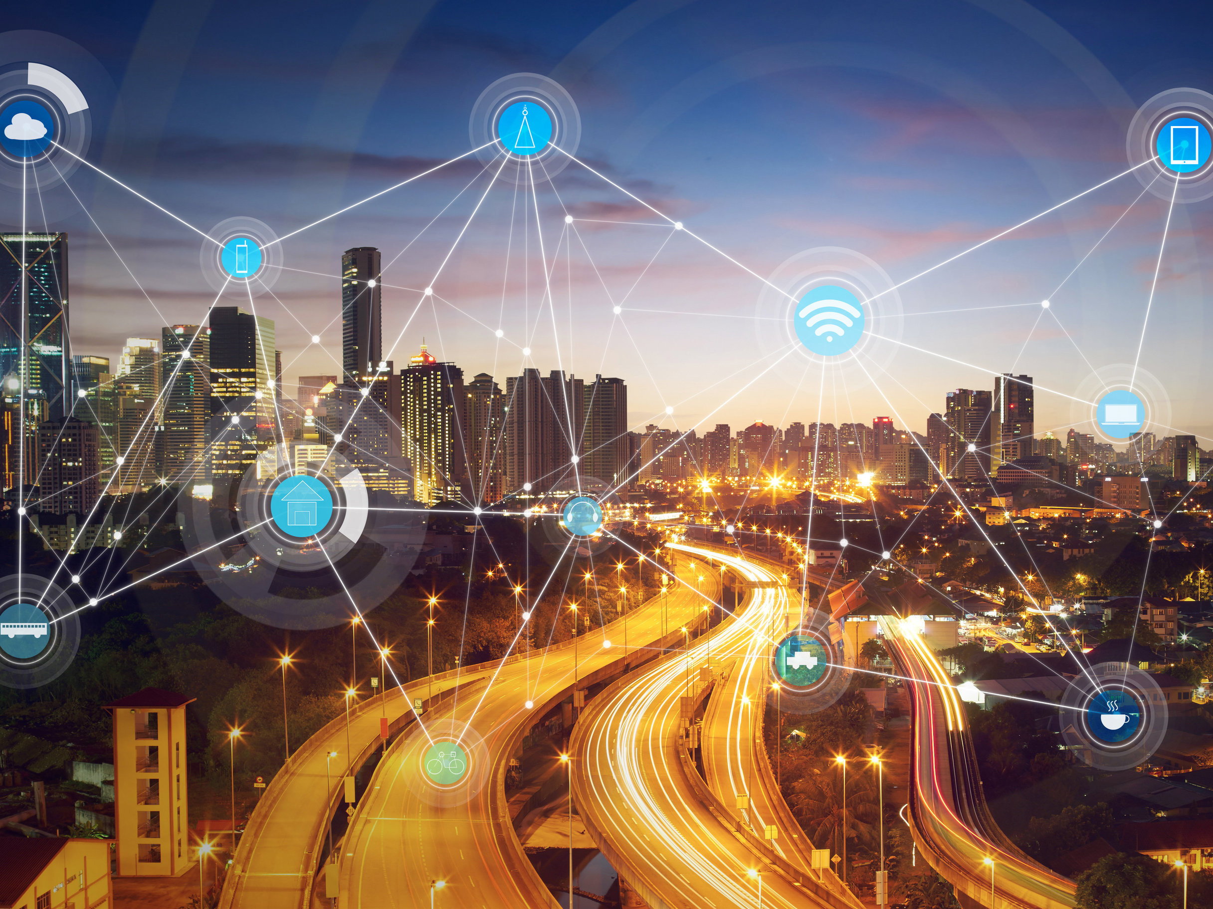 A smart city is usually one connected and managed through computing — sensors, data analytics and other information and communications technology. Image: Shutterstock