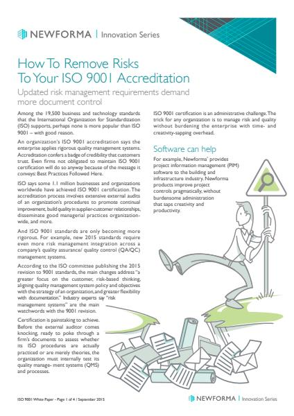 How to remove risks to your ISO 9001