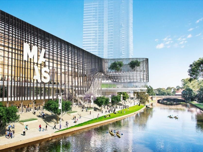 Indicative render of the new Powerhouse Museum and MAAS site in Parramatta. Image: NSW government