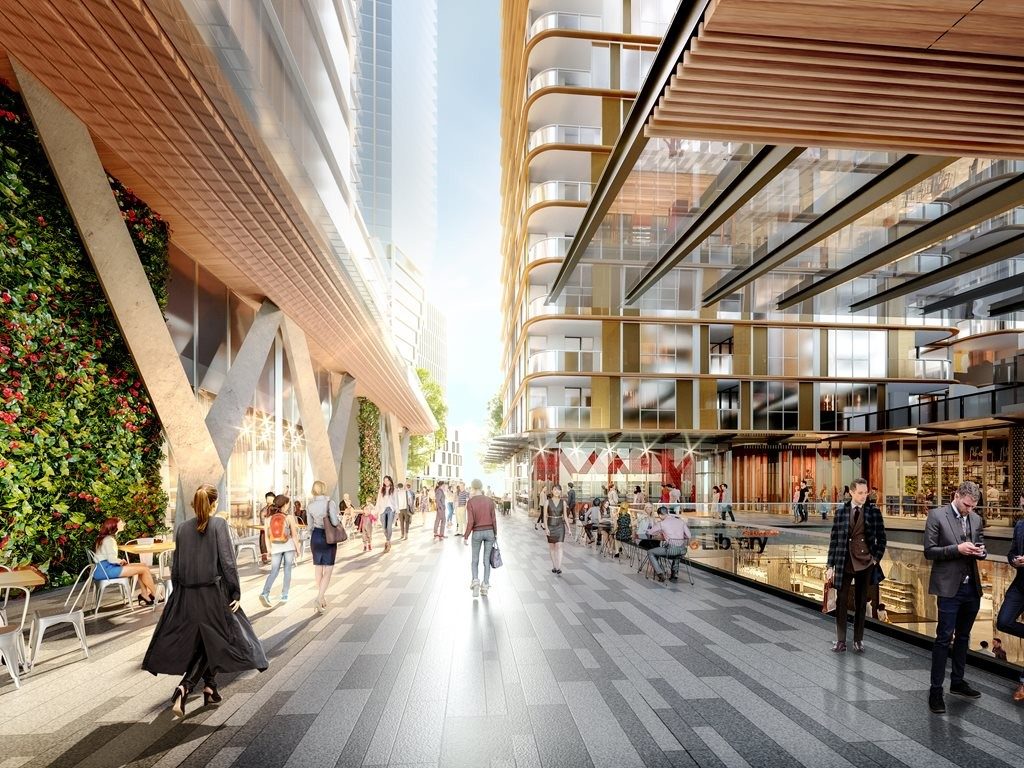 Eighty Eight by JQZ sets a new benchmark in integrated living, working, shopping, office space and transport infrastructure set to be rolled out across Sydney. Image: PTW