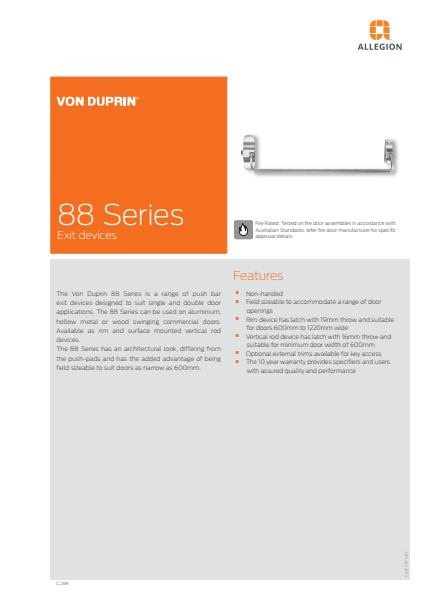 88 Series product brochure