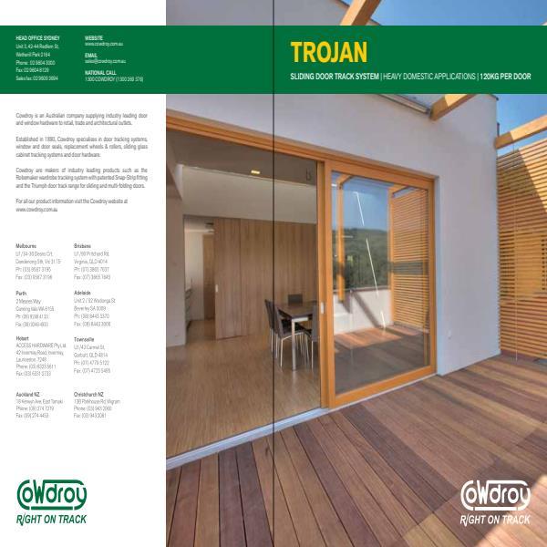 Cowdroy Trojan Sliding Door Track System Brochure