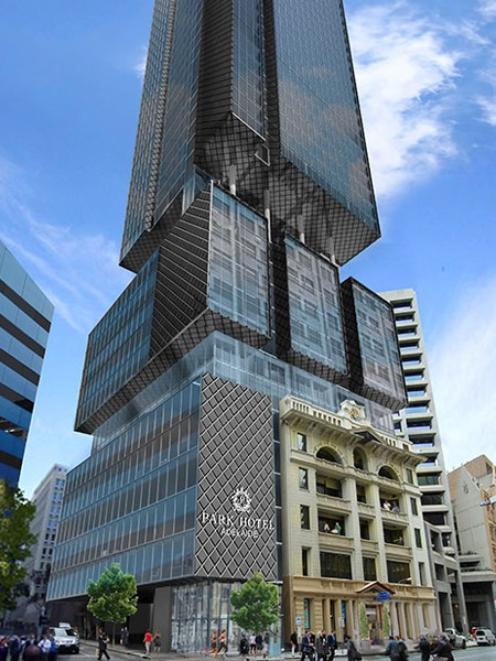 Ghd Woodhead S Boxy Adelaide Tower Dwarfs Heritage Facade