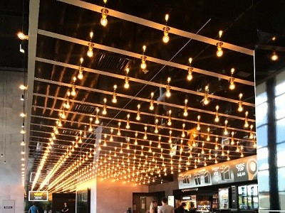 Reading Cinema with the Hollywood-styled illuminated black and gold ceiling