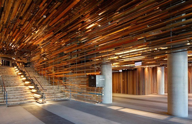 2 000 Planks Of Reclaimed Wood Suspended In Canberra S
