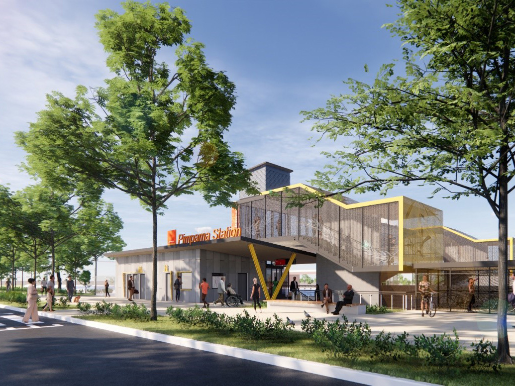 GHD Gold Coast Railway Pimpama Station Artists Impression