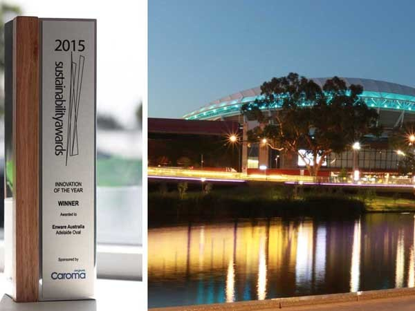 Enware won the 2015 Innovation of the Year award for its water saving installation at the Adelaide Oval