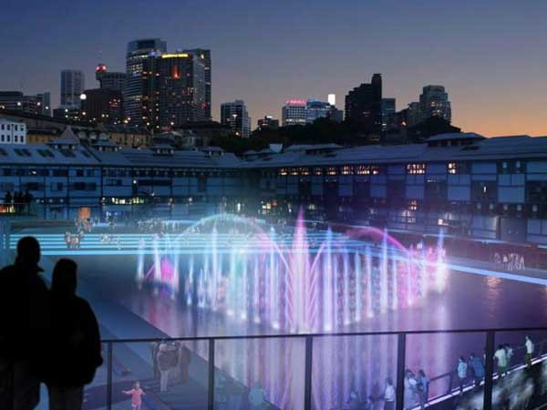 A proposed floating stage in the redevelopment of Walsh Bay Arts Precinct (Courtesy: Arts NSW)