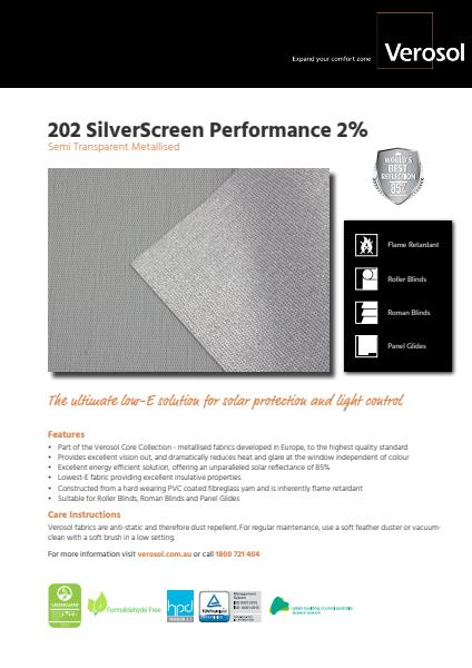 SilverScreen Performance Specification