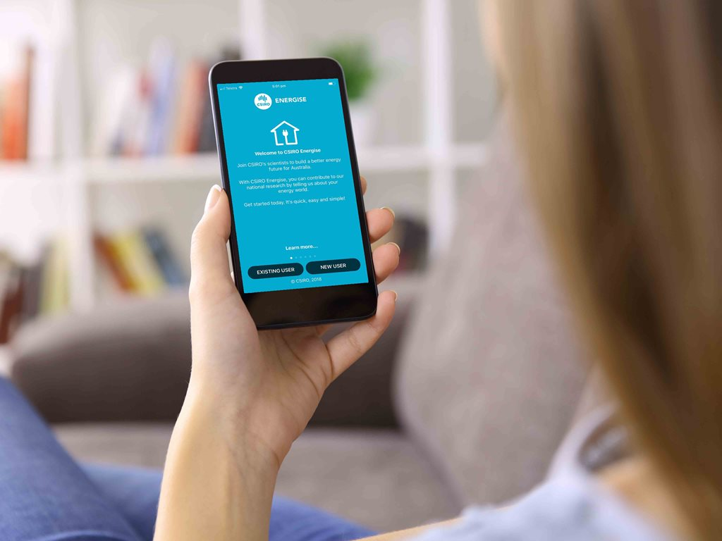 The CSIRO has released a new app to the public as part of its research into better understanding how households consume, generate and interact with energy. Iamges: Supplied