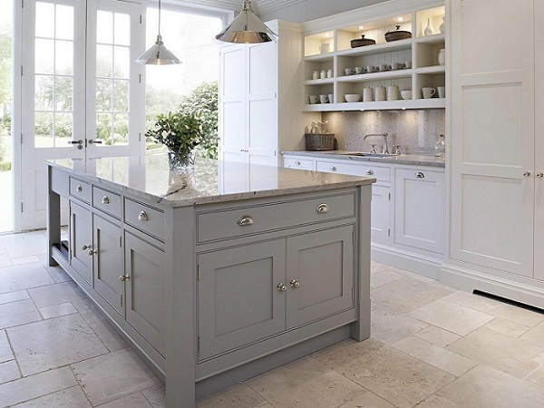 shaker kitchen sandstone flooring