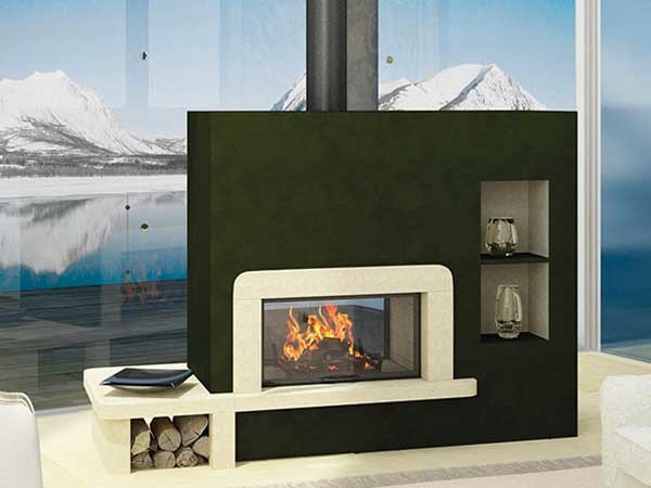 Axis double sided fireplace