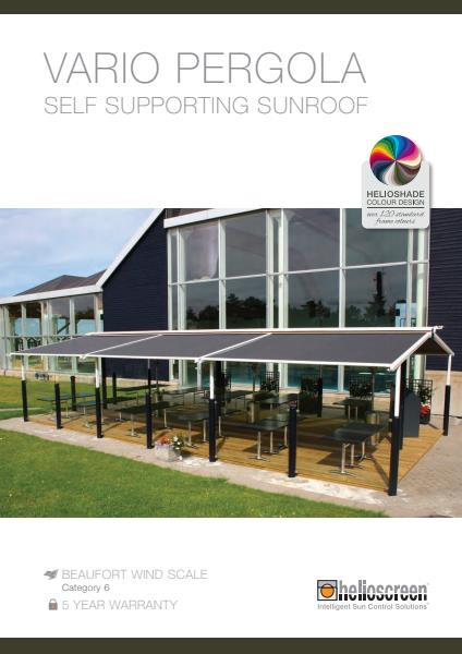 Vario Pergola Self Supporting Sunroof