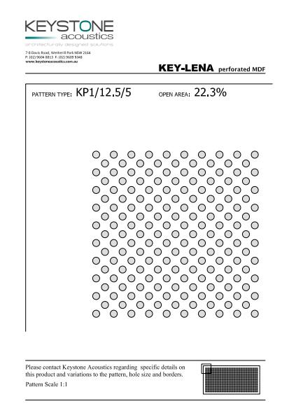 Key-Lena Perforated Data Sheet