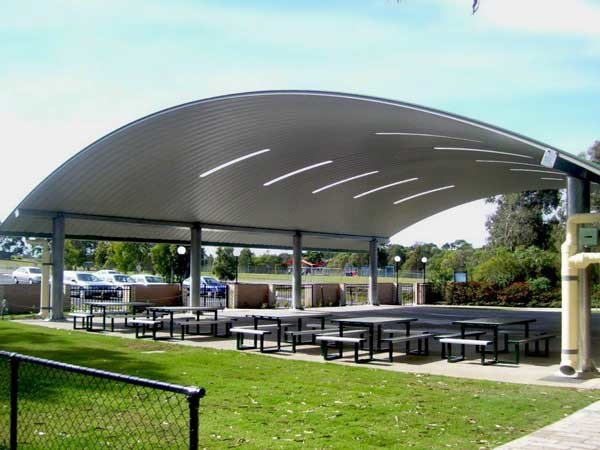 Spantech's multipurpose shade structure at Calvary Christian College