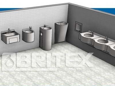 Revit families for wash basins