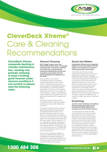 CleverDeck Xtreme Care & Cleaning
