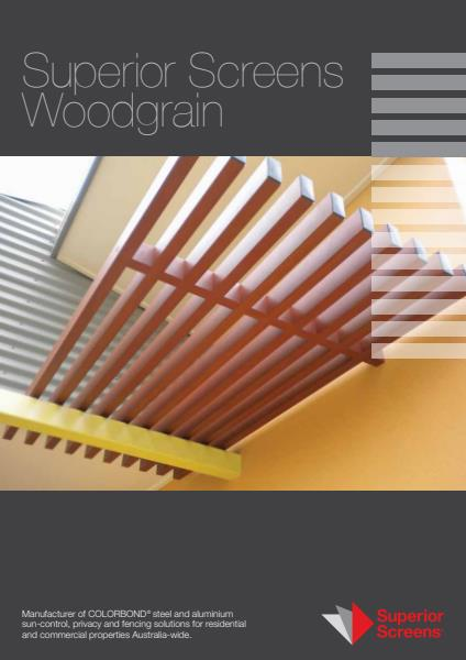 Superior Screens Woodgrain brochure
