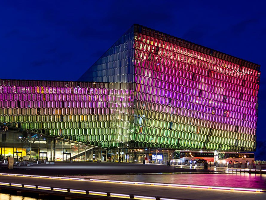 Harpa Concert Hall in Reykjavik, Iceland. Photography by David Phan