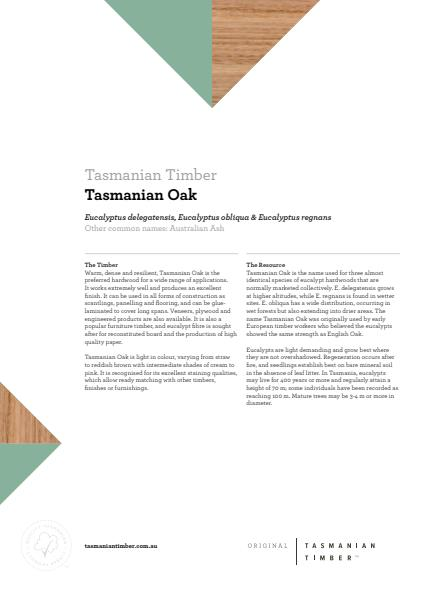 Tasmanian Oak Info Sheet