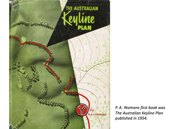 In a period when talk of soil conservation held sway, thought of by scientists such as Dr H. H. Bennett as a resource which only declined and not replaced, Australian inventor P.A. Yeomans developed 'Keyline' - a two-part system to reverse the idea: to make more soil. The idea is deceptively simple: open up the soil with particular deep ploughing, and then control water flows into those furrows.