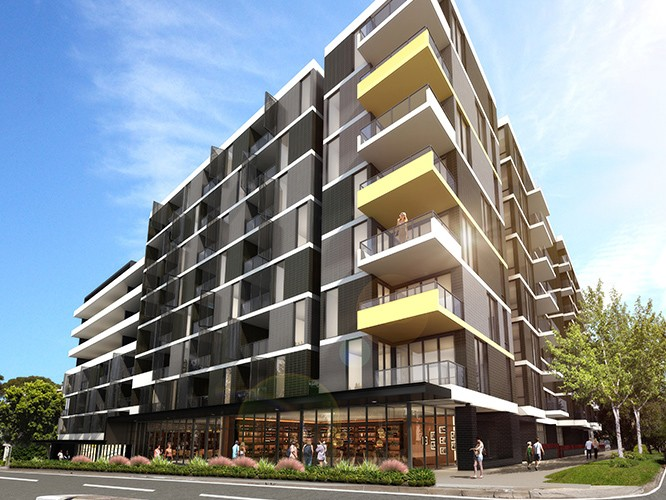 Artist's impression of 426 Canterbury Road, one of a number of developments that have attracted controversy along one of Sydney's most congested corridors. Image: CD Architects