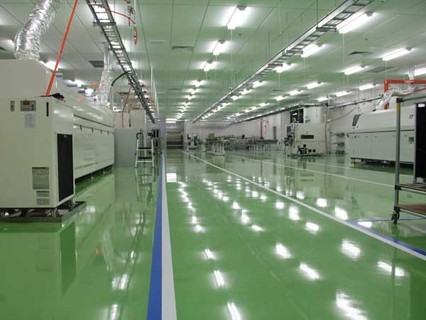 Flowcrete installed an anti-static, hardwearing epoxy resin floor finish throughout the manufacturing facility in Penang