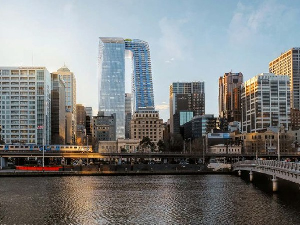 November's third most-read article: Woods Bagot and SHoP Architects back from the drawing board with Melbourne's first skyscraper skybridge. Image: Woods Bagot/SHoP Architects