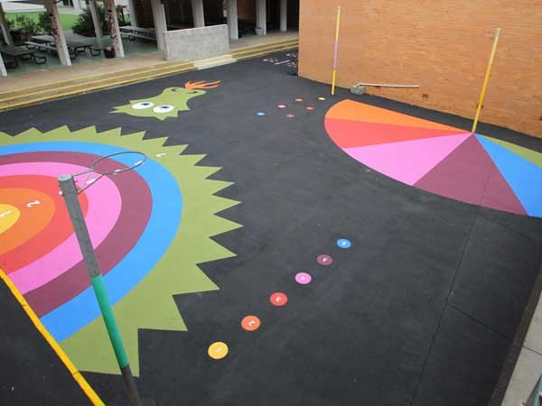 StreetBond coatings are ideal for schools to create highly visual play and exercise surfaces